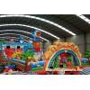 大型儿童充气滑梯蹦床  柳州市超大型广场充气滑滑梯