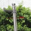 304不锈钢3.5米安防立杆 室外监控立杆