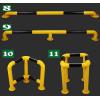 常熟U型挡车器钢制护栏安装定做常用规格推荐