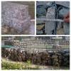 路基支挡工程专用格宾网挡土墙,双绞合钢丝网阶梯状挡墙
