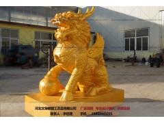 铜雕麒麟_动物雕塑_文禄铸造