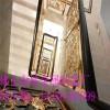 供应酒店别墅复式铝艺楼梯护栏实心铝板雕刻护栏