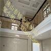 毕节市酒店铝雕花楼梯扶手安装效果铝雕花楼梯扶手