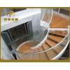 供应典雅旋转楼梯,优质玻璃楼梯 钢结构楼梯 工程楼梯