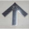 地铁线专用乘车黑色发光箭头不锈钢疏散导向标识嵌地式发光箭头