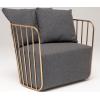 北欧蒌空扶手铁线沙发,铁线沙发椅