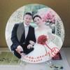 结婚周年纪念盘定制照片 结婚纪念品定制