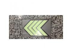 供应杭州地铁地面标识 不锈钢银光箭头地标