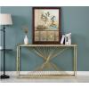 北欧个性大理石玄关桌现代简约轻奢钛金色客厅不锈钢条案桌玄关