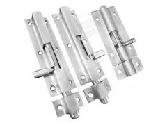 内置弹簧锁门扣门闩门栓锁304不锈钢拉丝防生锈大门防盗