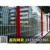 河北鑫海品牌1.8米高喷塑厂区护栏,桃型立柱护栏网