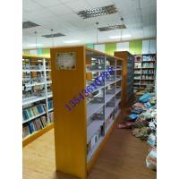 顺德图书室书架拆装钢木书架智能密集架密集手摇移动书架厂家