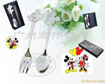 不锈钢餐具 卡通餐具 礼品餐具
