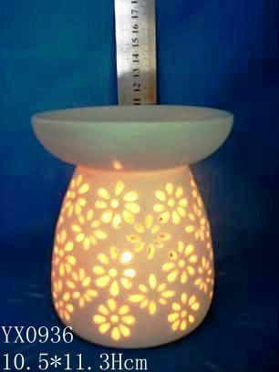 德化陶瓷香薰炉,陶瓷手工镂空香薰炉,陶瓷手工镂空香薰灯