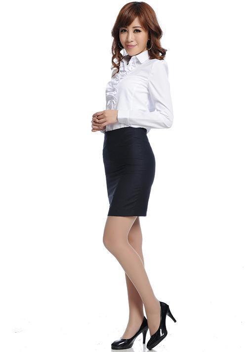 2012新款女装秋季韩版OL通勤时尚修身纯棉白衬衣长袖职业女