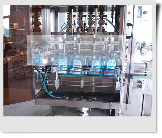 洗衣液定量分装灌装机、洗洁精灌装锁盖机、洗手液灌装旋盖机 扭