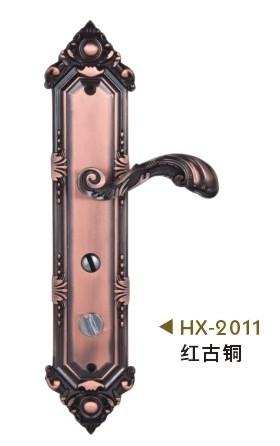 铝合金艺术大门锁( 红古铜 )