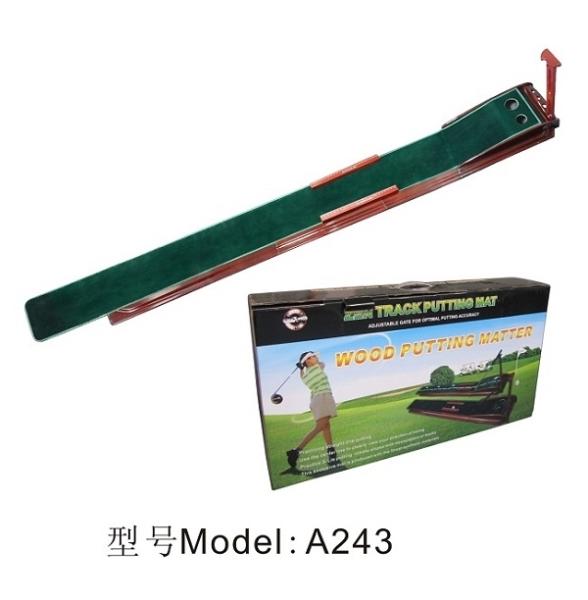 供应高尔夫新款推杆靠杆练习器练习毯